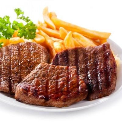 Bisteca di vitello + cartofi prajiti